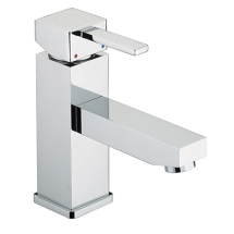 Bristan Quadrato Eco Basin Mixer C/W Clicker Waste Chrome