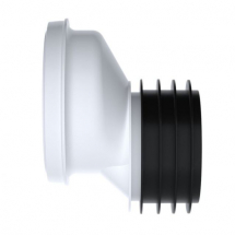 Polypipe Kwickfit Offset Pan Connector 40mm White SK52