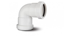 Polypipe Pushfit Waste 40mm Knuckle Bend White WP16W