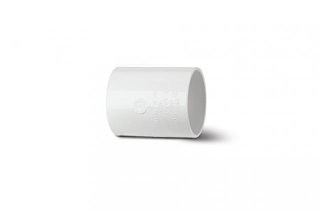 Polypipe Solvent Waste 40mm Straight Connector White WS26W