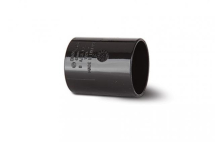Polypipe Solvent Waste 50mm Straight Connector Black WS58B