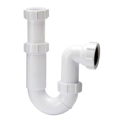 Polypipe 40mm Tubular Swivel P' Trap Adj 75mm Seal WT63