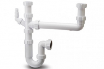 Polypipe 40mm 2 Bowl Sink Trap Single Hose Con WSK2