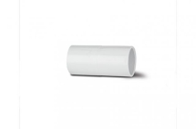 Polypipe Solvent Overflow Straight 21.5mm White NS44