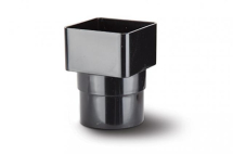 Polypipe Pipe Adaptor Square To Round Black RS231B