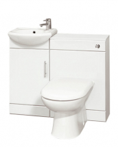 Essential Alaska Slimline WC And Basin Unit Pack 950mm WHITE
