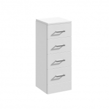 Essential Alaska 4 Drawer Unit 350mm WHITE