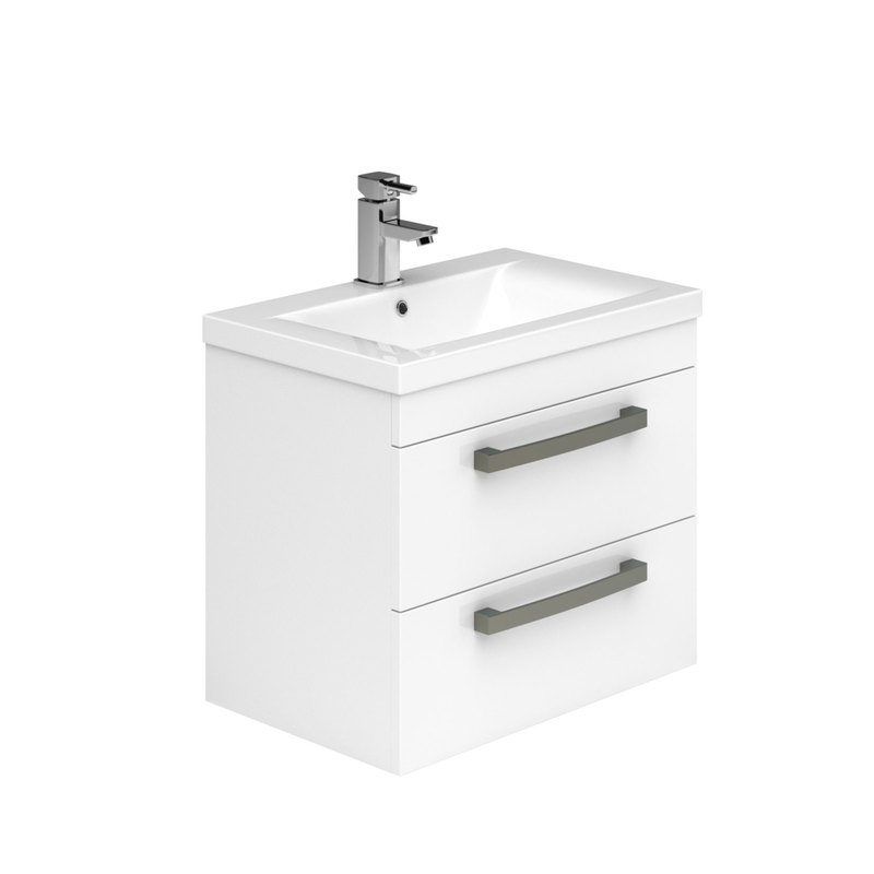 Essential Nevada Wall Hung Basin Unit 2 Drawers