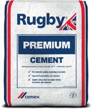 25kg Rugby Premium Cement Plastic Bagged