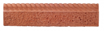 Bradstone Rustic Rope Edging Terracotta
