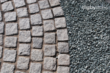 Digby 100x100 Hand Cropped Setts 30/50mm Silver Granite
