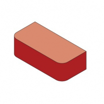 Bn2.2 Red Double Bullnosed Bricks Solid