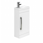 Essential Nevada Cloakroom Basin Unit 1 Door 400mm WHITE